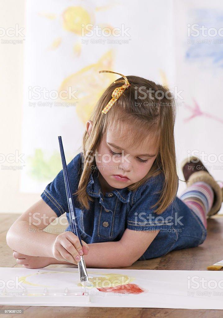 Kindergarten Artist royalty-free stock photo