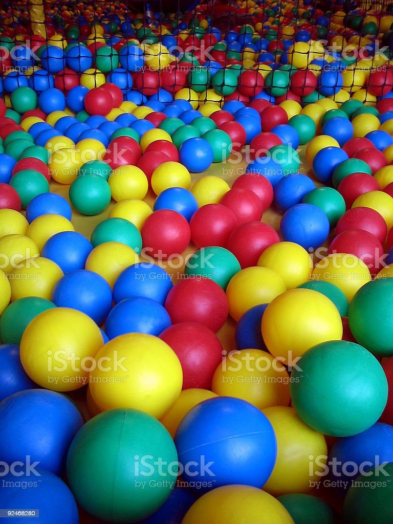 Kindergarten balls royalty-free stock photo