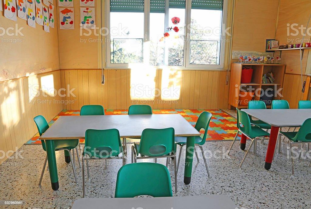 Crèche Classe Avec Des Fauteuils Et Des Décorations Pour Les Enfants ...