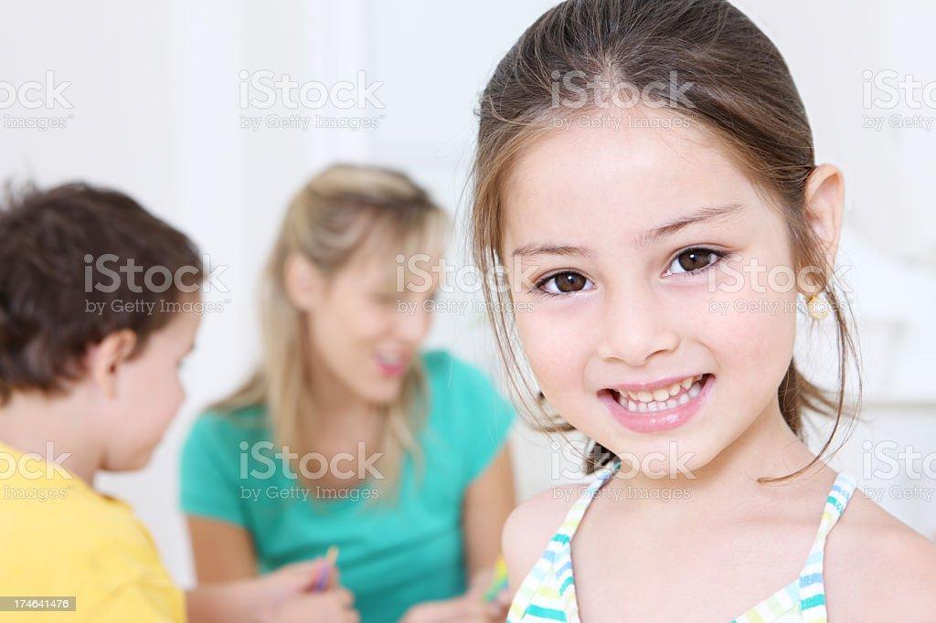Kindergarten fun royalty-free stock photo