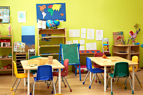 Kindergarten interior stock photo