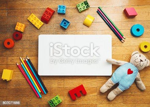 istock Kindergarten or preschool background. 802071686