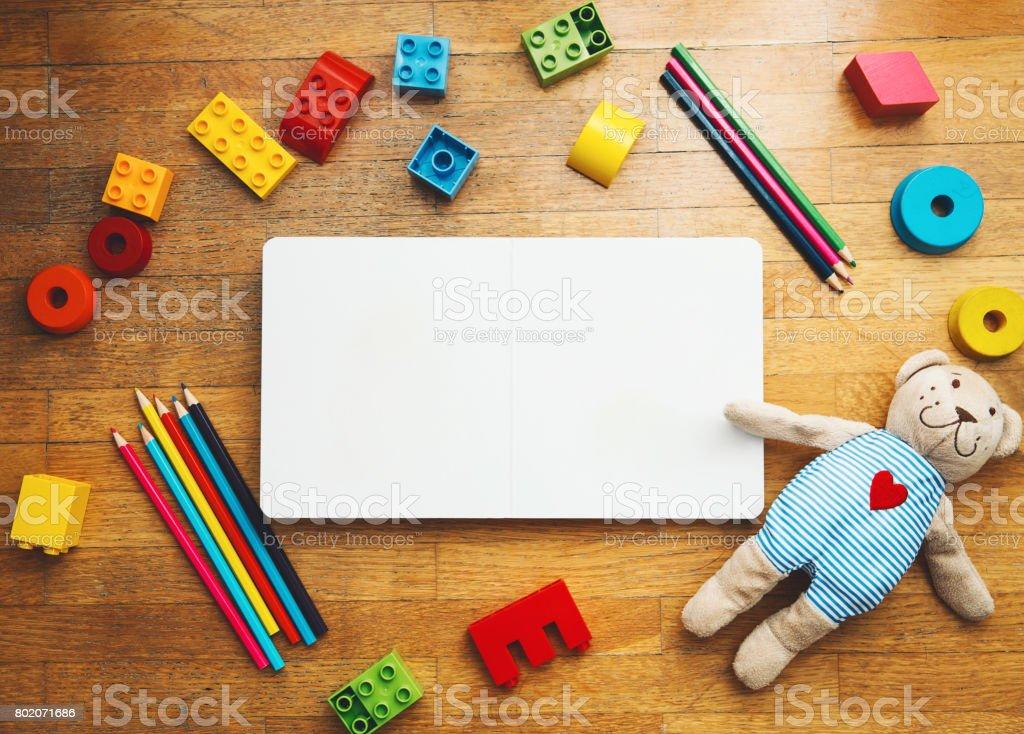 Kindergarten or preschool background. stock photo
