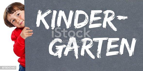 istock Kindergarten preschool care child kid young little boy 875042442