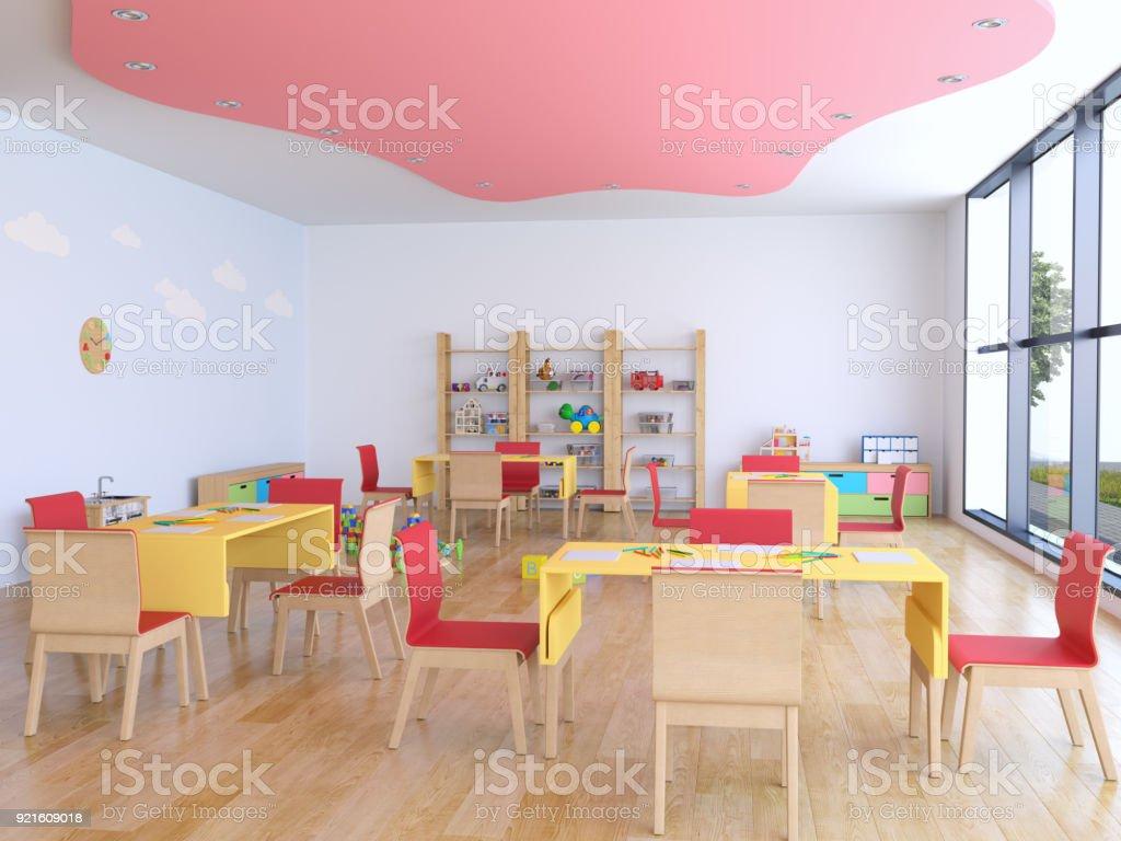 Kindergartenraum mit Spielzeug – Foto