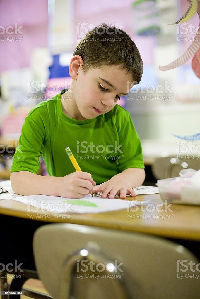 Kindergarten student royalty-free stock photo