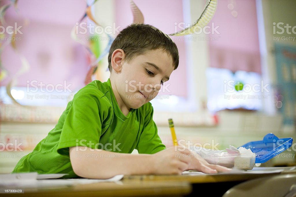 Kindergarten student stock photo