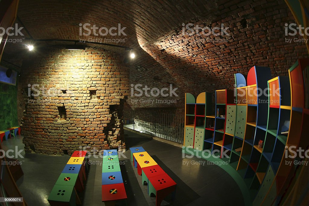 Kinderheim inside ancient castle royalty-free stock photo