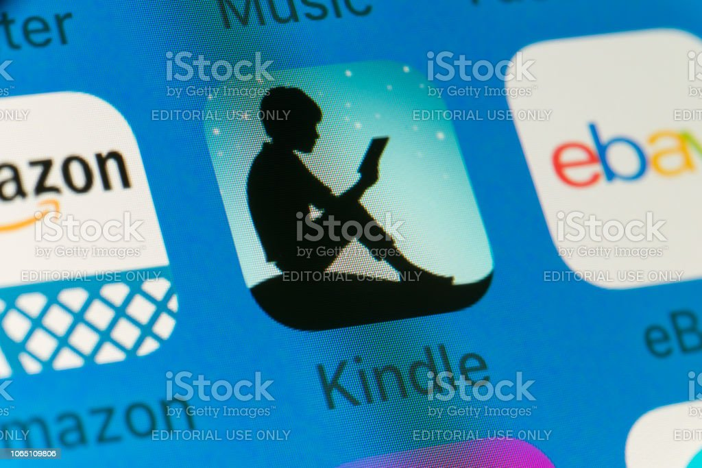 Kindle Amazon Ebay And Other Cellphone Apps On Iphone Screen Stock Photo Download Image Now Istock