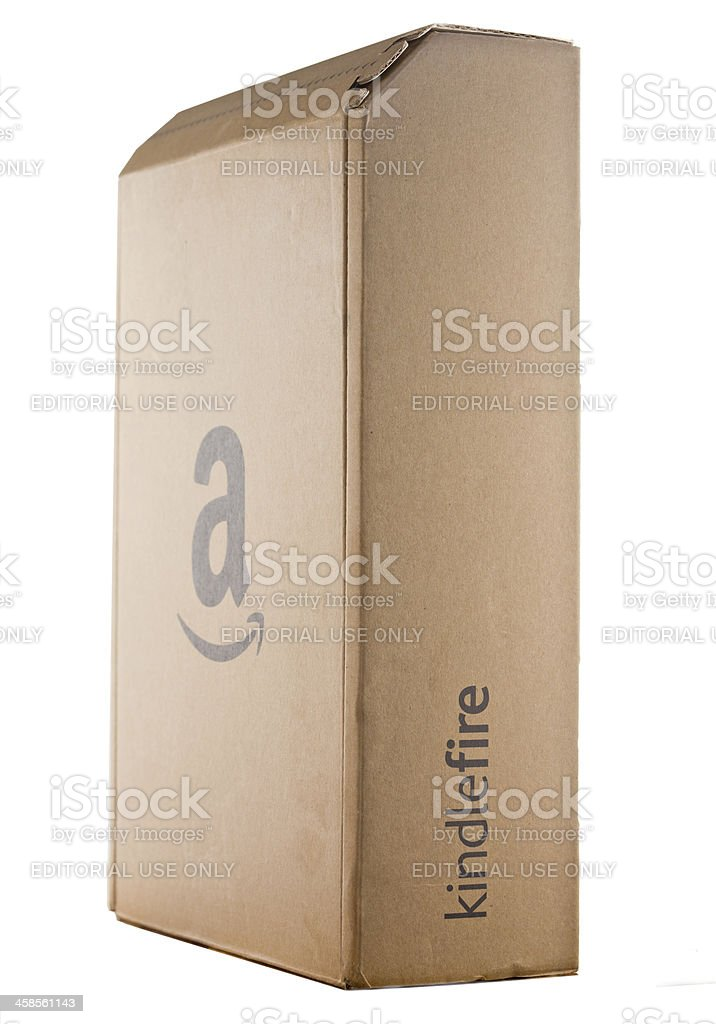 Kindle Fire Box royalty-free stock photo