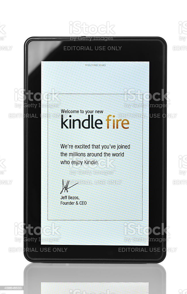 Kindle Fire stock photo