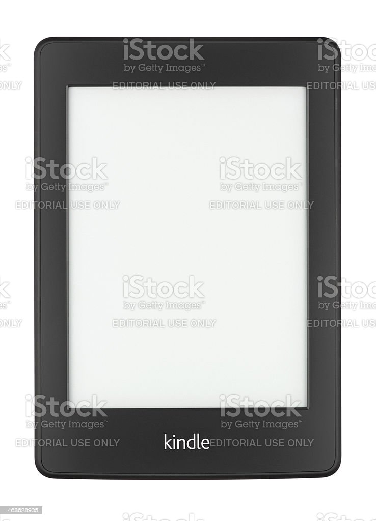 Kindle Paperwhite with a Blank Screen stock photo