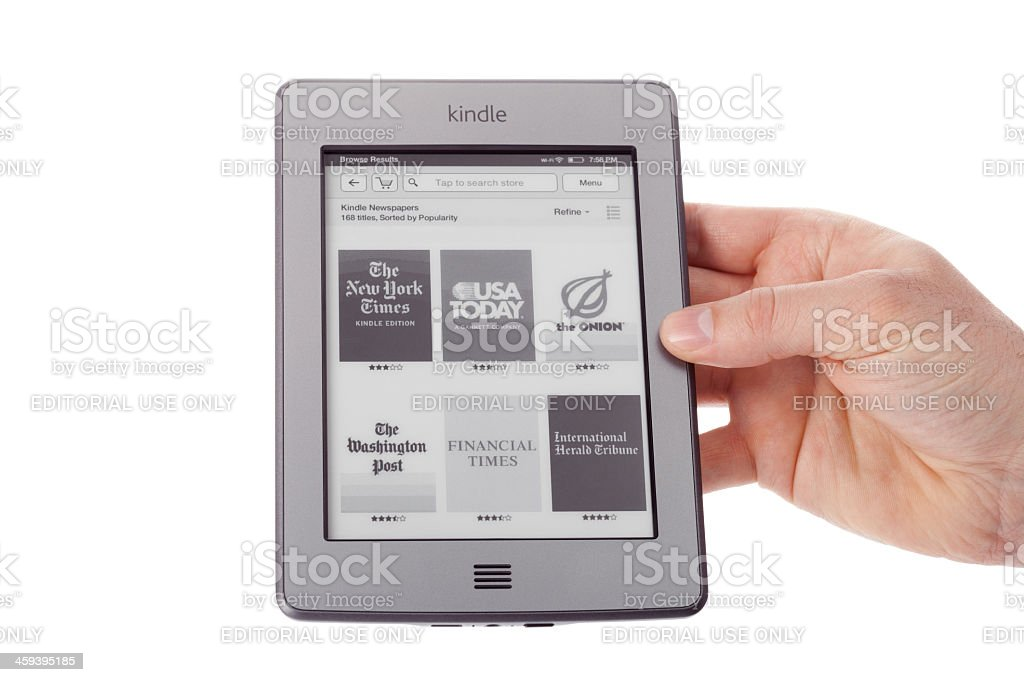 Kindle Touch Stock Photo - Download Image Now - iStock