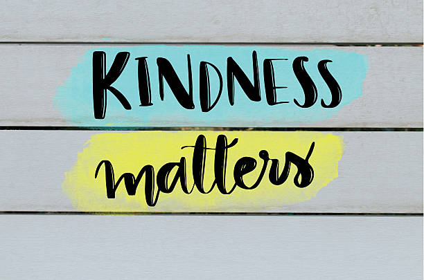 kindness matters inspirational message - fotografie zitat stock-fotos und bilder