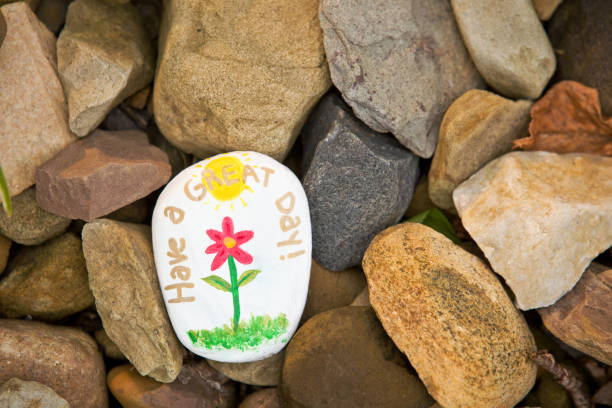 Kindness Rock Have A Great Day stock photo