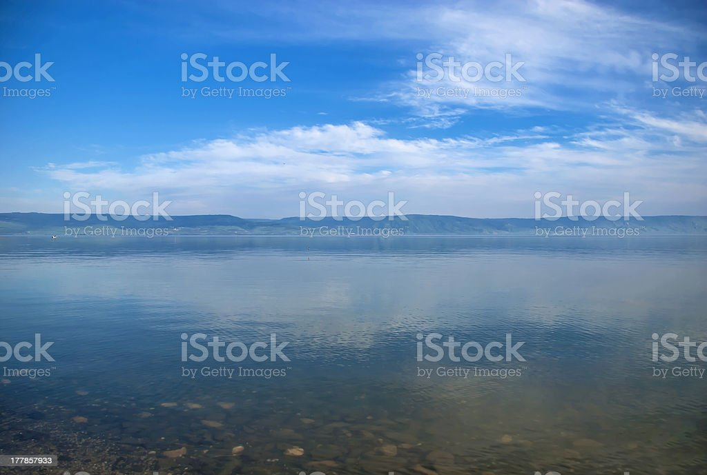 Kineret's lake stock photo