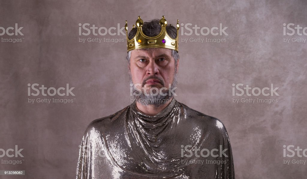king, a man with a crown
