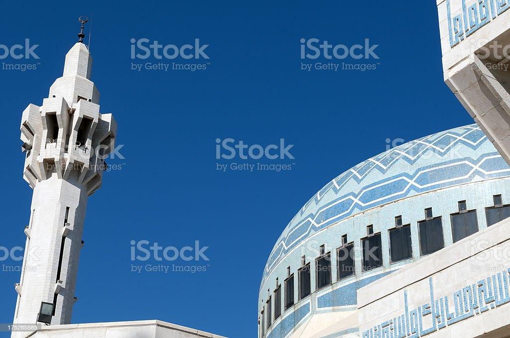 King Abdullah Mosque in Amman Jordan royalty-free stock photo