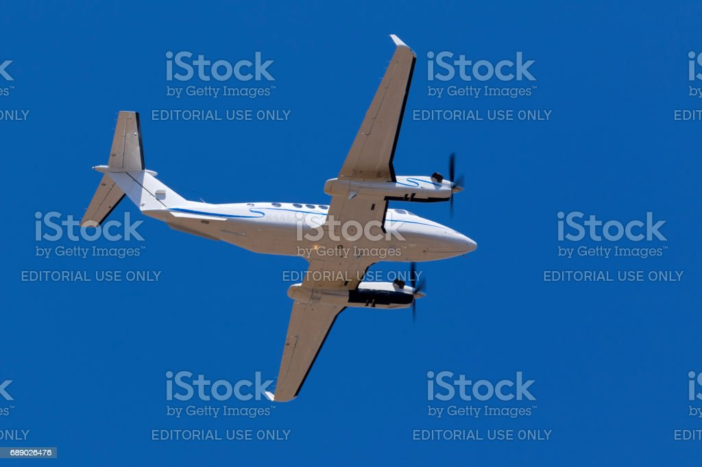 King air seen from below stock photo