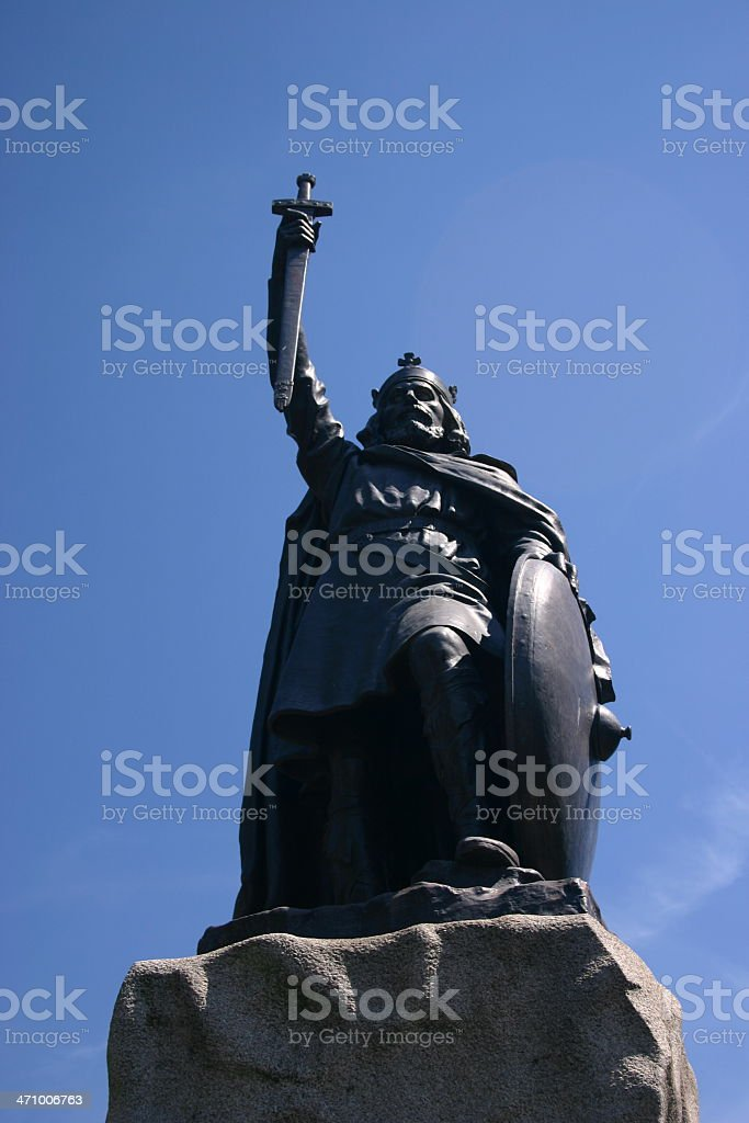 King Alfred statue royalty-free stock photo