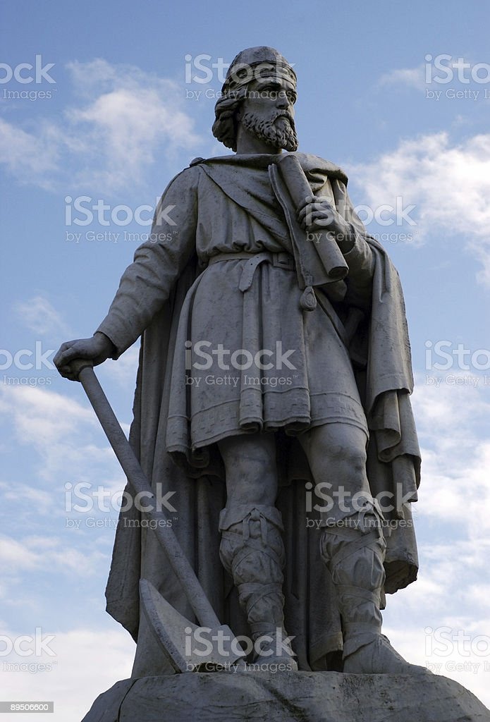 King Alfred the Great Wantage Oxfordshire royalty-free stock photo