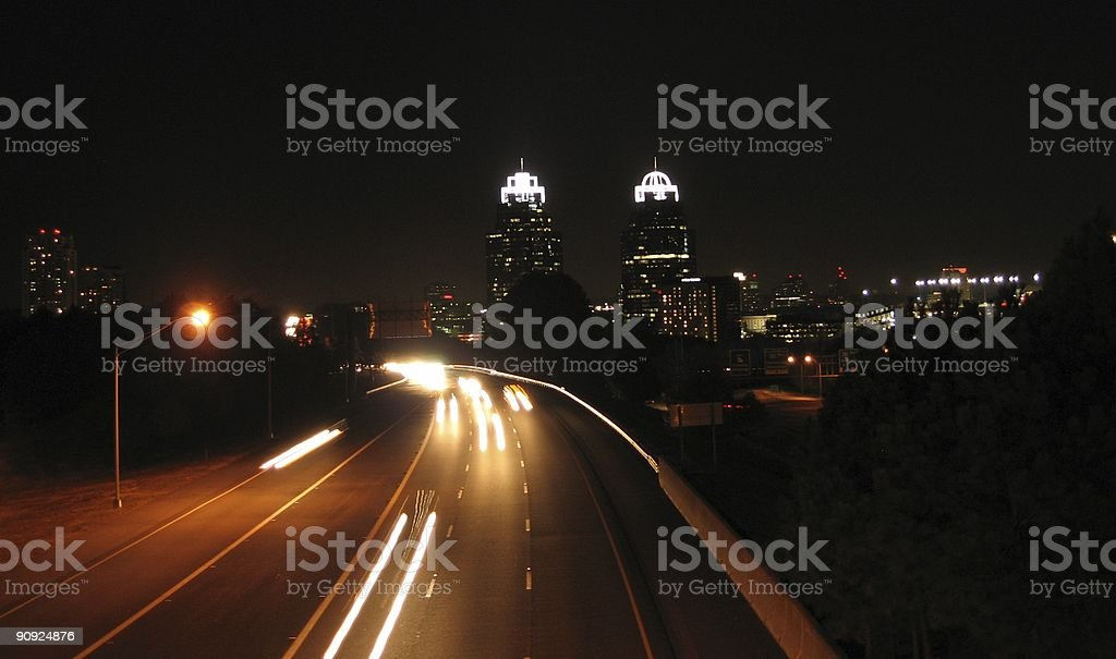 King and Queen at night stock photo