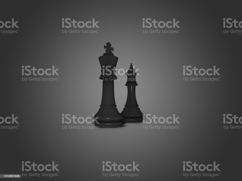 King and queen black chess figures illustration background royalty-free stock photo