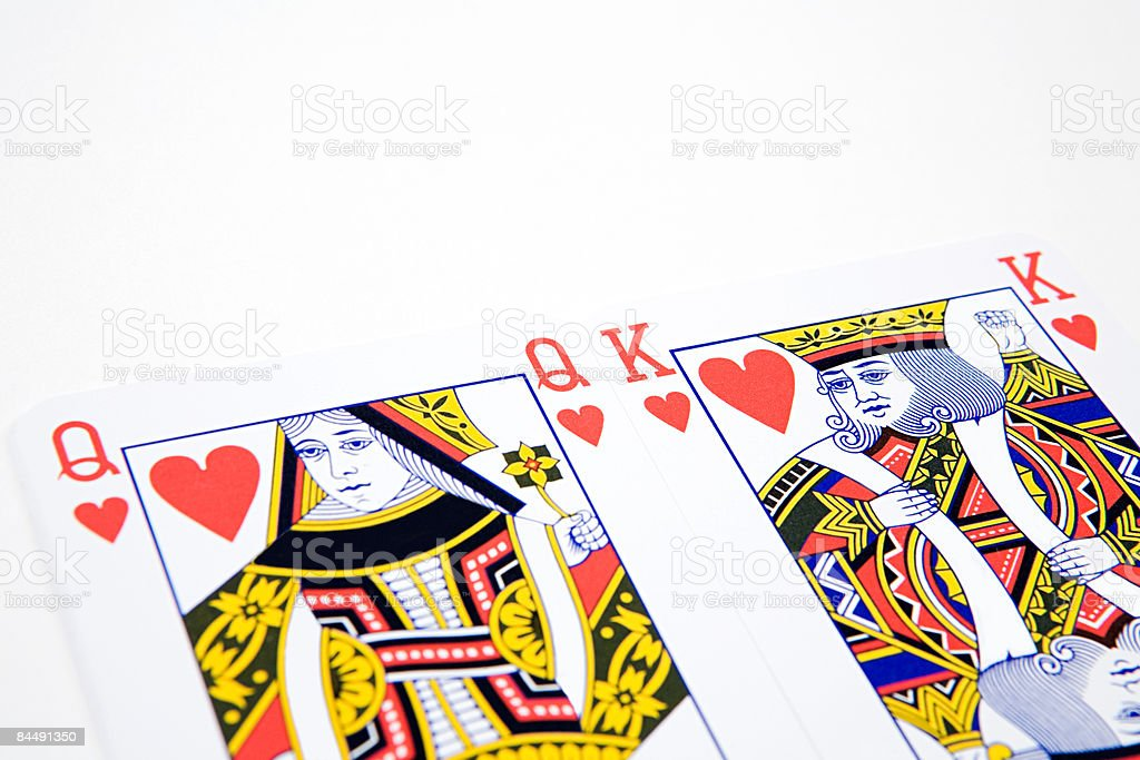 King and queen of hearts stock photo