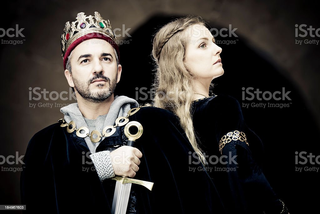 king and queen stock photo