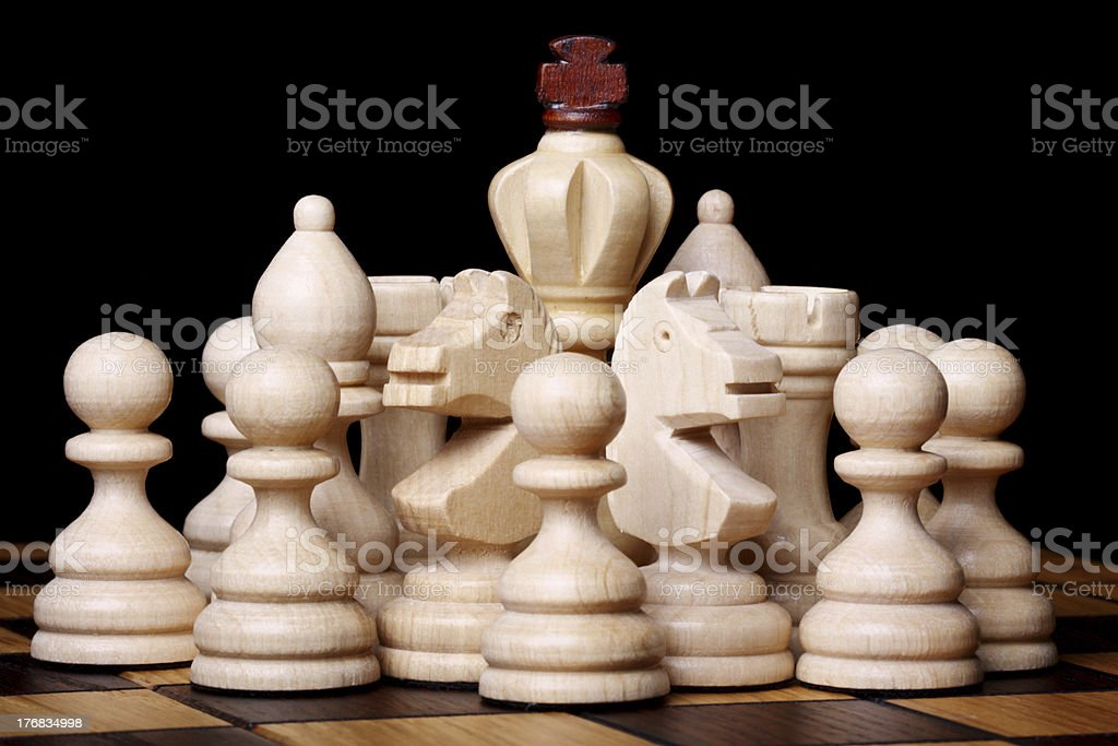King and retinue stock photo