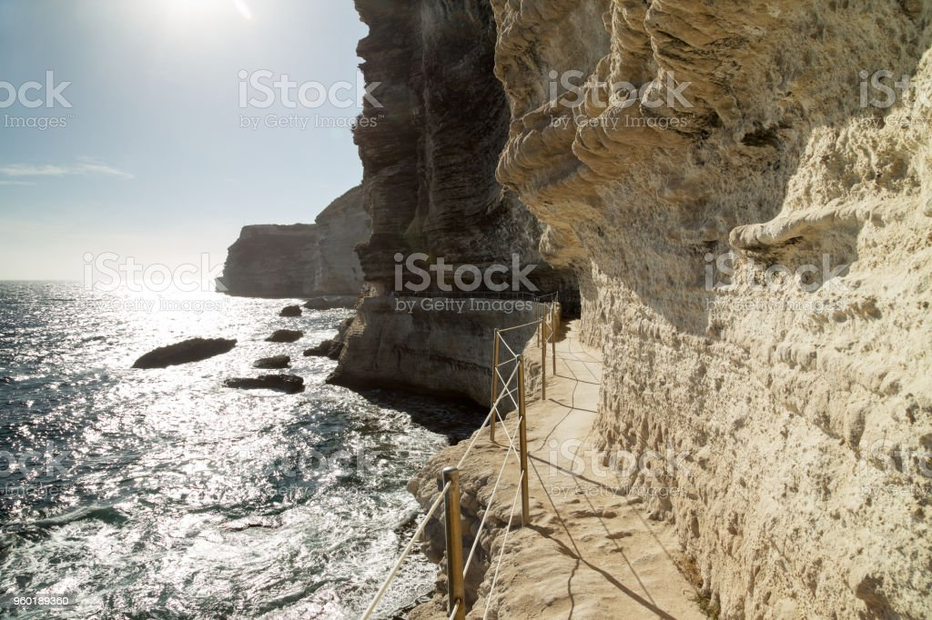 King Aragon stair steps, Corsica island, France stock photo