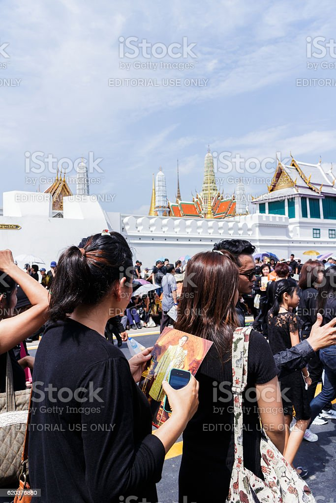 King Bhumibol  Adulyadej and funeral zbiór zdjęć royalty-free