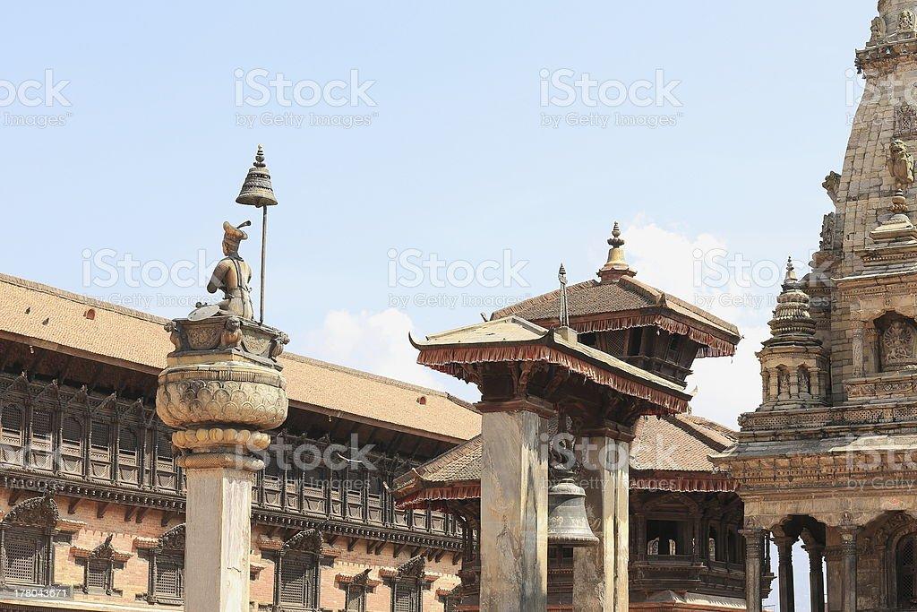 King Bhupatindra Malla. Durbar Square-Bhaktapur-Nepal. 0233 stock photo
