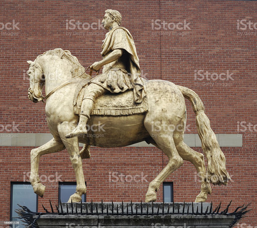 King Billy Statue, Hull stock photo