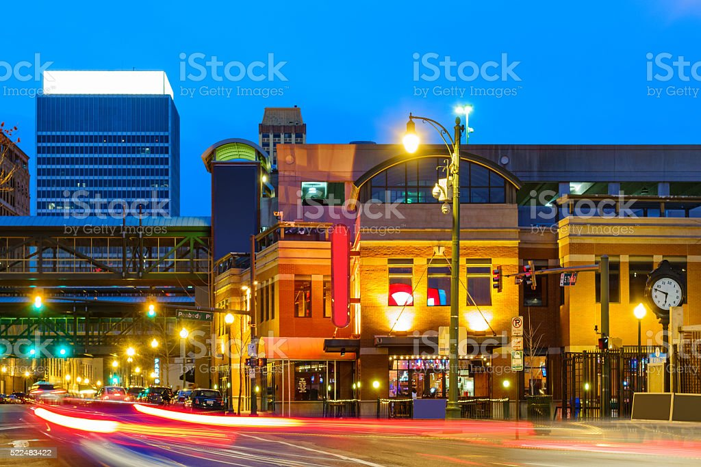 B.B. King Boulevard in Downtown Memphis Tennessee USA stock photo