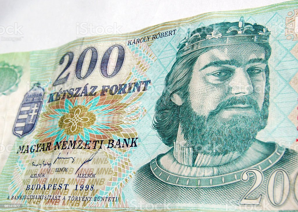 King Charles I of Hungary Banknote royalty-free stock photo