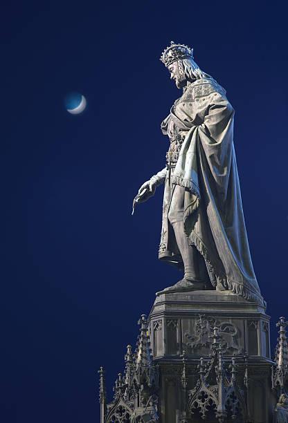 King Charles IV, Prague stock photo