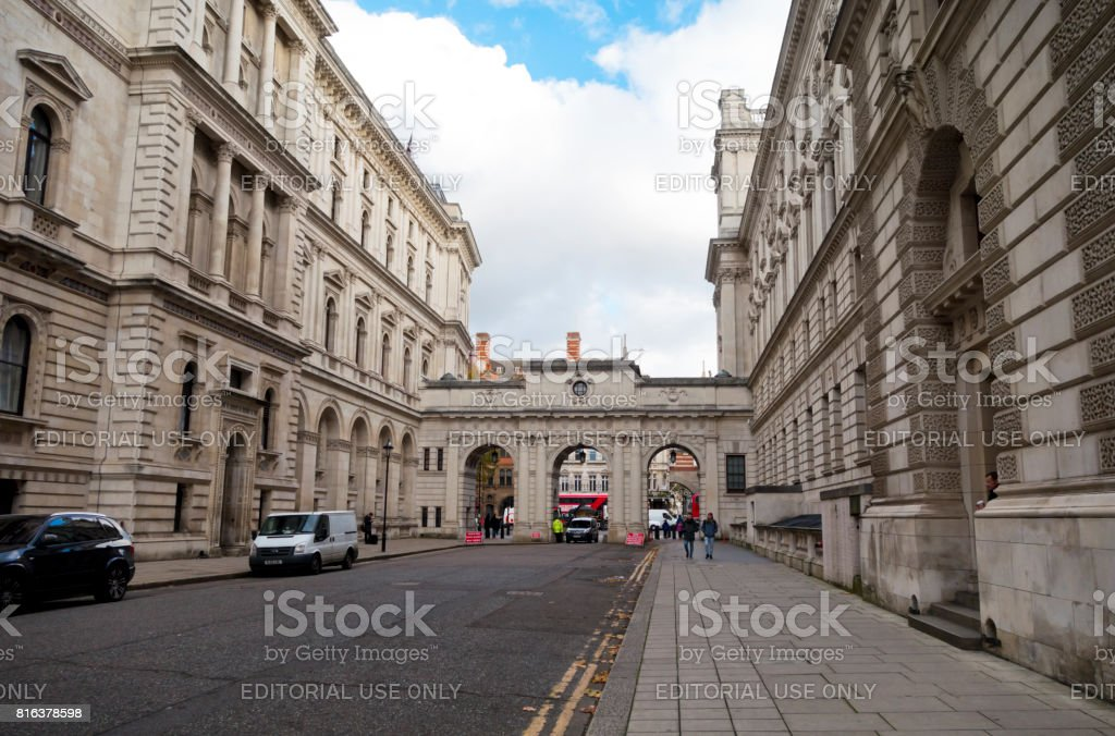 King Charles Street, Westminster, London stock photo