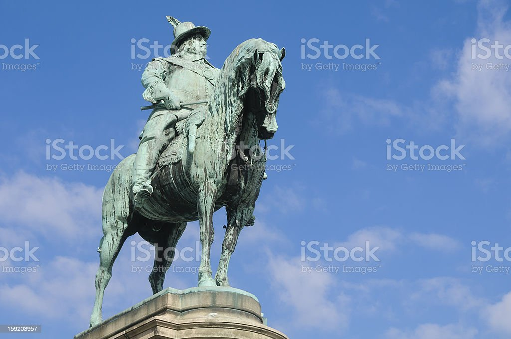 King Charles X's statue in Malmo royalty-free stock photo