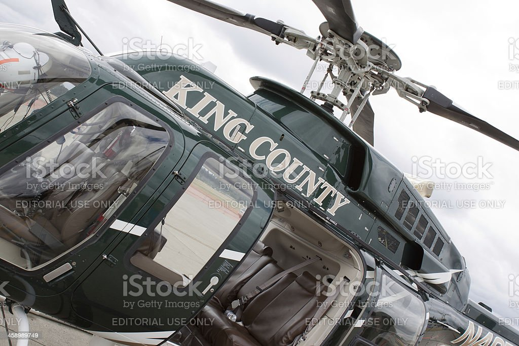 King County Sheriff's Helicopter royalty-free stock photo