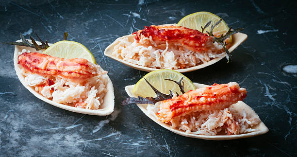 king crab cocktail - foto de stock