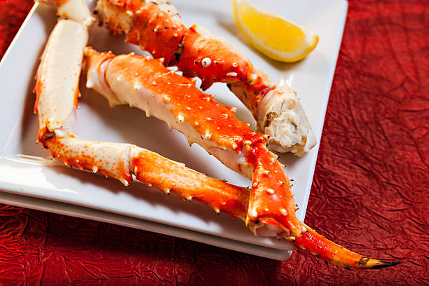 King Crab Dinner stock photo