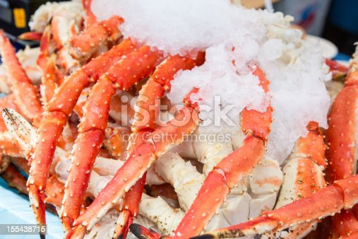 King Crab Legs on crushed ice