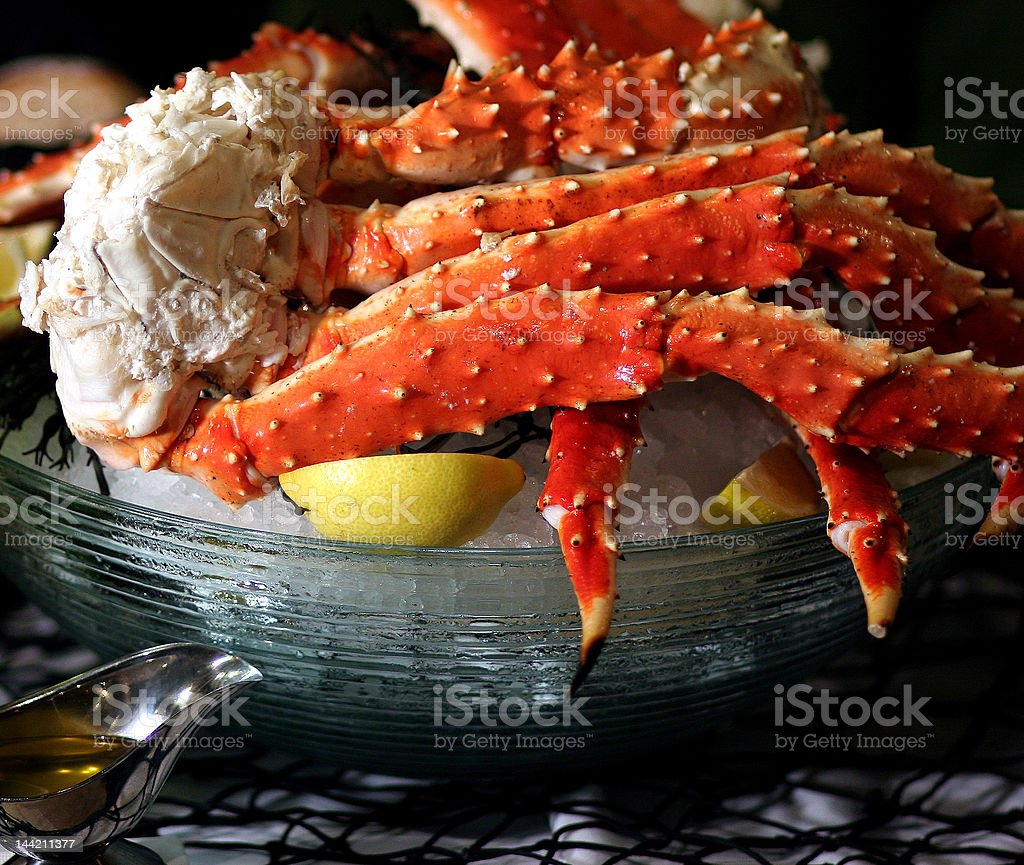 King Crab on Ice stock photo