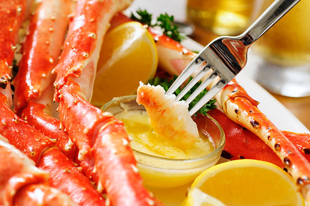 King Crab Plate stock photo