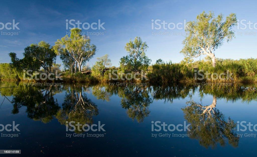 King Edward River Reflections stock photo