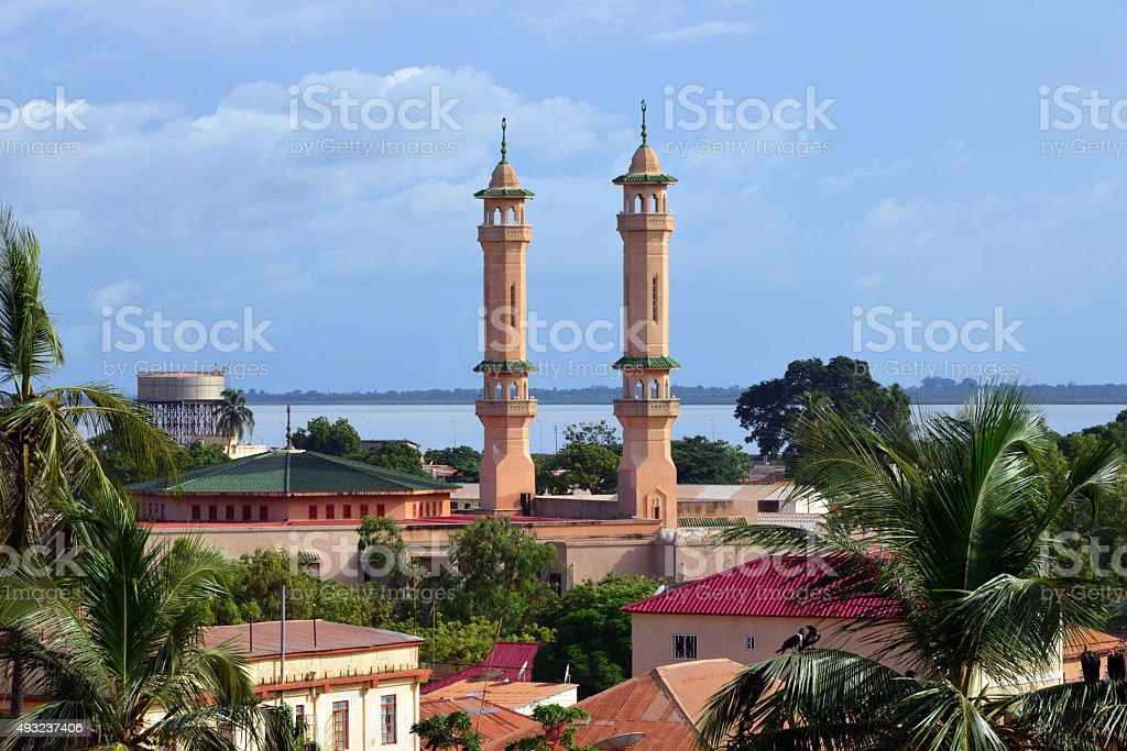 King Fahah mosque, Banjul stock photo