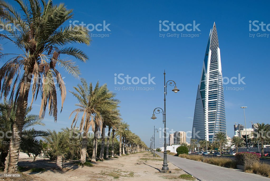 King Faisal Highway in Bahrain royalty-free stock photo