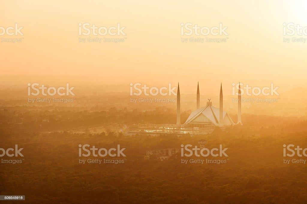 King Faisal Mosque, Pakistan stock photo