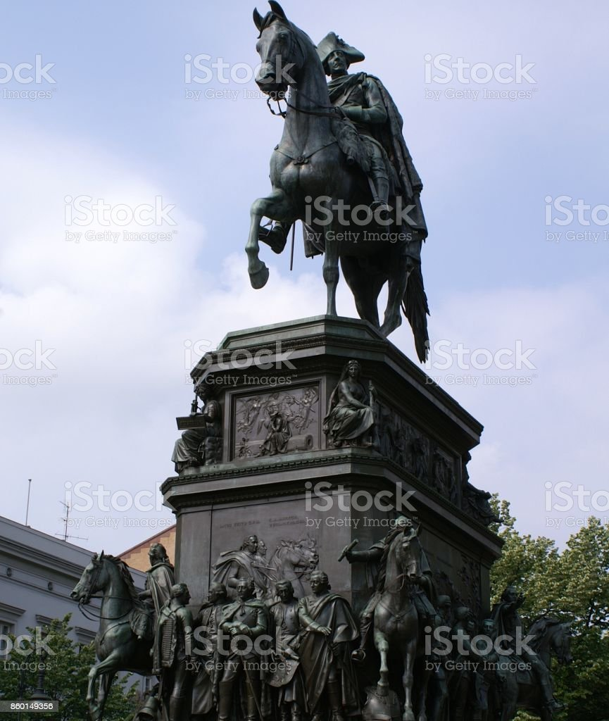 King Friedrich II the Great stock photo